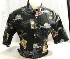 Bimini Bay Outfitters Hawaiian Shirt style XL  Cotton Multi-Color Fishing