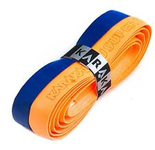 Karakal Super DUO PU Replacement Grips Orange/Dark Blue Tennis Squash Badminton