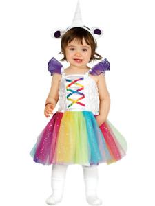 ★ Prinzessin Guirca Rainbow,Regenbogen Tier Pferdchen Kostüm 74-98 Einhornchen