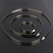 1 Pcs 11.8 inch Stainless Steel Hoop Hose / Ducting Clamps Hydroponic Duct Hoop