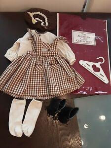 American Girl Pleasant CompanyAddy Birthday Outfit w/ Snood, Socks, & Shoes EUC