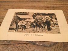 Old  Postcard .  Napoli .carro Da Transporte .