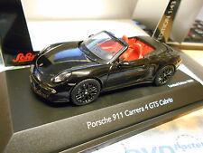 PORSCHE 911 991 Carrera 4 GTS Cabriolet 2014 schwarz black Schuco 1/1000 1:43