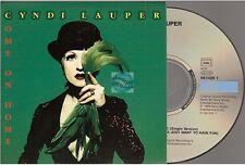 CYNDI LAUPER come on home CD SINGLE card sleeve