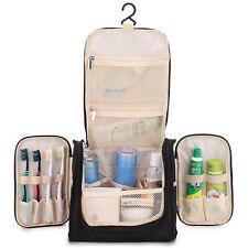 Travel Makeup Cosmetic Bag Toiletry Wash Case Organizer Storage Hanging Bag blac