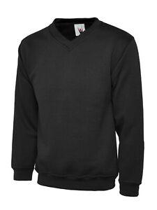 Uneek Premium V-Neck Sweatshirt Active UC204 XS-4XL Work Wear Causal Top
