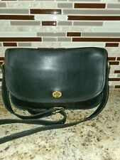 COACH Vintage Penny Pocket Black Leather Crossbody Handbag 9790