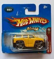 2005 Hotwheels Blings Hummer H3 Yellow! Very Rare! Mint!