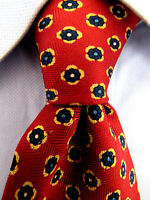 Men's Amherst & Brock Red Silk Tie Made in Italy 20620
