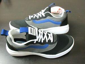 Vans Men's UltraRange Rapidweld Tri Tone Black Pewter Blue shoes Size 8.5 NWT