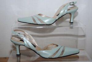 Jacques Vert Ladies Mint Green Slingback Occasion Shoes Uk Size 4