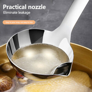 Kitchen Utensil Soup Oil Separation Spoon 304 Stainless Steel Grease Colander