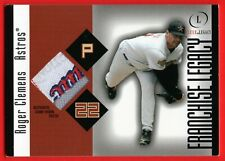 ROGER CLEMENS 2004 FLEER LEGACY FRANCHISE LEGACY GAME WORN LAUNDRY TAG #D /99
