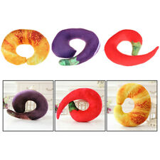 40CM neck pillow chili eggplant croissant plush toy plush toy cushion_UK