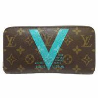 Authentic LOUIS VUITTON Monogram Zippy Wallet M60928 Turquoise /044533 FREE SHIP