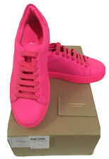 BURBERRY WOMEN'S WESTFORD NEON PINK SNEAKERS US 6 Authentic NEW in Box