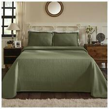 Superior Medallion Bedspread with Shams, Fleur de lis - Queen - New