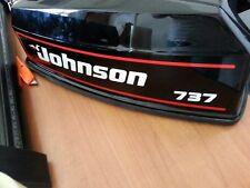 Adesivi motore marino fuoribordo Johnson 737 GT calandra scura 40 hp