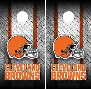 Cleveland Browns Cornhole Wrap Vinyl Skin Board NFL Sports Vinyl Decal WA12