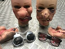 Gangster Scary Criminal Horror Latex Glasses Unisex Party Mask X10Piece Bundle