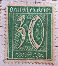 Germany Reich stamp - Numerals Face Value 30 reichspfennig 1922