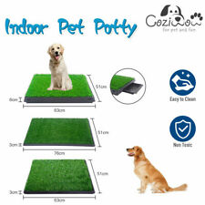 Dog Pet Potty Grass Puppy Training Portable Mat Toilet Large Loo Pad Tray Indoor