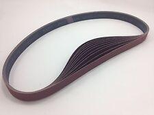 """1"""" x 42"""" Sanding Belts, 10 pack, 400 grit, AL Oxide - Made in USA"""