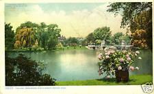 Boston.Ma. The Lake from Bridge, Public Gardens 1911