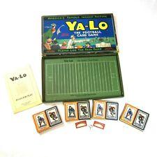 Antique 1925 YA-LO The Football Card Game E.J. Graber Columbus, Ohio Complete