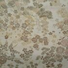 ANTIQUE JAPANESE SILK BROCADE FABRIC   FLOWERS   166  BY 27