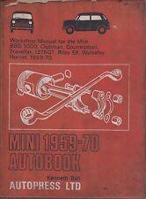 Mini 850 1000 Riley Elf Wolseley Hornet Clubman & 1275GT 1959-1970 Repair Manual