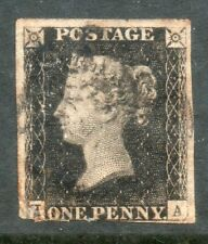 More details for queen victoria 1840 1d penny black used black maltese cross cat. £375
