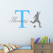Personalizado Fútbol Adhesivo de pared Chicos Niños Dormitorio Infantil