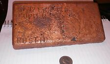 Large 6 Pound 7oz, Copper Bar, Great Investment. End time cash....