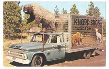 KNOPP BROS. TAXIDERMY - Bizarre CHEVROLET BOX TRUCK & BEAR Spokane WA ca1965 Ad