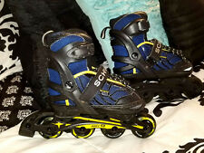 Schwinn Abec 5 Inline Roller Blades Youth Adjustable sizes 1,2,3,4 Blue Yellow