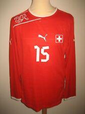 Switzerland MATCH WORN Schweiz Dzemaili football shirt soccer jersey trikot sz L