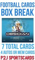 2020 PANINI OBSIDIAN FOOTBALL CARD HOBBY Box BREAK 1 RANDOM TEAM Break 4224