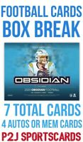2020 PANINI OBSIDIAN FOOTBALL CARD HOBBY Box BREAK 1 RANDOM TEAM Break 4192