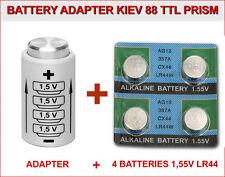 BATTERY ADAPTER for KIEV 88 TTL PRISM + 4 BATTERIES BUTTON 1,5V LR44