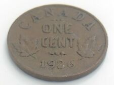 1926 Canada One 1 Cent Copper Penny Canadian Circulated George V Coin J818