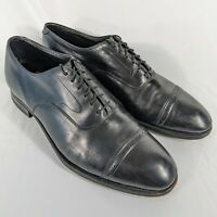 Johnston & Murphy Aristocraft Mens Brogue Cap Toe Dress Shoes Black 11.5 D/B USA