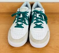 RARE WHITE GREEN MENS CONVERSE ALLSTAR ONESTAR SHOES SNEAKERS TENNIS LEATHER 8.5