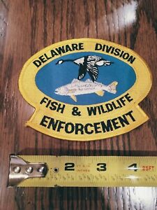 Police patch patches Delaware Fish & Wildlife Division enforcement DNR