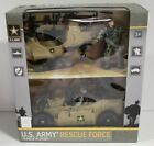 U.S. Army Rescue Force 13 Piece Playset Helicopter and Buggie Age 3+ USA-20127