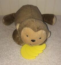 "Carters Child Mine Brown Monkey Bananas Plush Crib Pull Toy Musical  7"" Brahms"