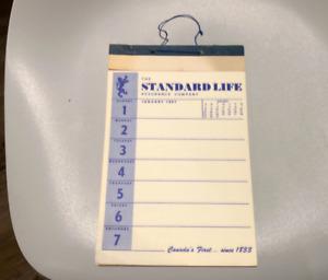 1967 STANDARD LIFE ASSURANCE COMPANY CALENDER UNUSED