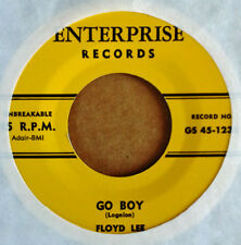 FLOYD LEE - GO BOY b/w GIVE YOUR LOVE TO ME -  ENTERPRISE 45 - ROCKABILLY REPRO