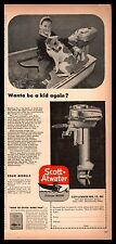 1947 SCOTT-ATWATER Vintage Outboard Motor AD w/photo