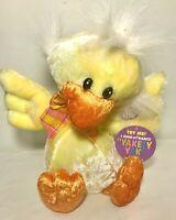 "DANDEE Yellow Plush Animated Duck Stuffed Animal Sings YAKETY YAK"" Easter ~ NEW"